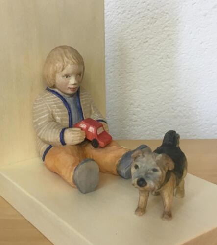 "Kind mit Hund ""Mia"""