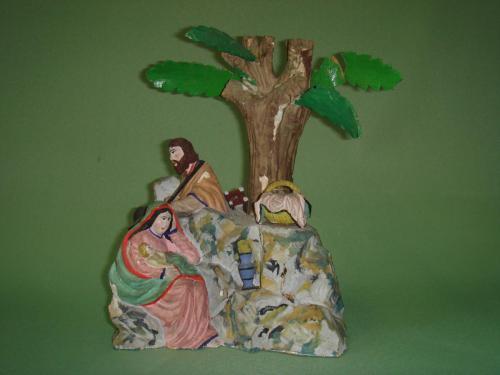 Restaurierung von Weihnachtsbergfiguren